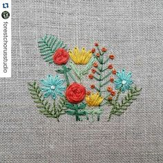 #Repost #embroiderydesign #embroideryart #embroidery