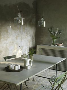 Outdoor terrace with dining table Dining Area, Dining Table, Green Plants, Outdoor Decor, Terraces, Garden, Furniture, Home Decor, Northern Italy