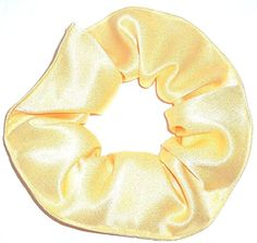 Satin Fabric Hair Scrunchie Handmade by Scrunchies by Sherry Yellow >>> More info could be found at the image url.(This is an Amazon affiliate link and I receive a commission for the sales)