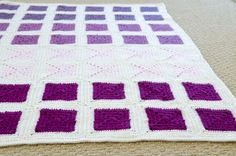 DIY Modern Colorblocked Granny Square Baby Blanket | Via Live Modernly | 09