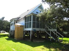 Stairway to Heaven a 3 Bedroom  Rental House in Ocracoke, part of the Outer Banks of North Carolina. Includes Hi-Speed Internet. Non-Smoking.