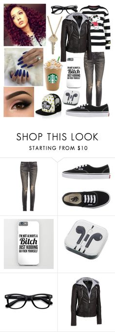 """""""Yesterday's outfit (20)"""" by nightm4rereaper on Polyvore featuring R13, Vans, EyeBuyDirect.com, Wilsons Leather, The Giving Keys and vans"""