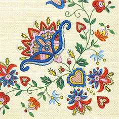 Polish folk art napkin Polish Art Center
