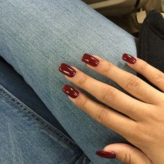 Squoval, long nails, wine red