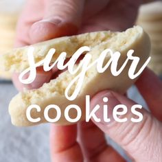 Easy cut out sugar cookie recipe for decorating.  These are the best!  They make a soft, but thick sugar cookie that's perfect for any holiday.  #recipe #sugarcookie Homemade Sugar Cookies, Sugar Cookie Icing, Soft Sugar Cookies, Recipe For Sugar Cookies, Cake Cookies, Cut Out Cookies, Easy Holiday Recipes, Easy Cookie Recipes, Best Sugar Cookie Recipe For Decorating