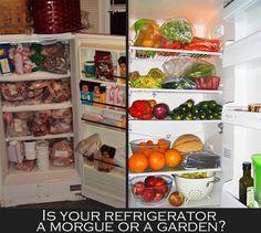 Is your refrigerator a morgue or a garden? . . . ** GO VEGAN **