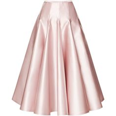 Rochas Duchesse Satin A-Line Skirt (16.181.495 IDR) ❤ liked on Polyvore featuring skirts, bottoms, pink, faldas, rochas, pleated skirt, pink a line skirt, pleated a line skirt and pink skirt