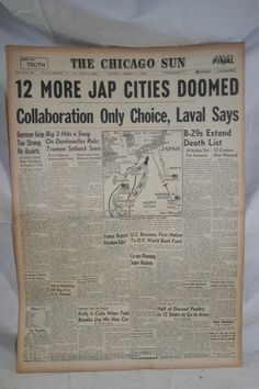 Google Image Result for http://i.ebayimg.com/t/Vintage-Chicago-Newspaper-Headlines-The-Chicago-Sun-August-5-1945-np056-/00/s/ODAwWDUzMw%3D%3D/%24T2eC16h,!ygE9s7HLc,IBQJ0nuHtMw~~60_3.JPG