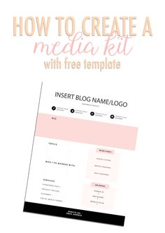 How to create an awesome media kit with free template