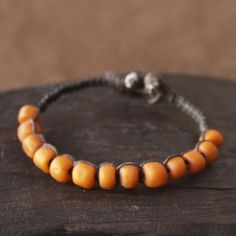 Ancient Chinese Beaded Macrame Bracelet Woven by losttribedesigns, $48.00