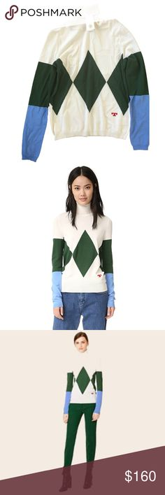 💥✨HOST PICK✨💥Tory Burch Candace Argyle Sweater ✨✨HOST PICK!!!✨✨ Sophisticated yet funky green, cream (ivory), and blue turtleneck sweater by Tory Burch. NWT!~ Candace Argyle Turtleneck Sweater 75% viscose, 25% polyamide, gives it a light weight and gloss. Cozy and super comfortable! Nearly impossible to find. Tory Burch Sweaters