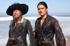 *CAPTAIN BARBOSSA (Geoffrey Rush) & WILL TURNER (Orlando Bloom) ~ Pirates of the Caribbean: At World's End (2007)