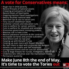This is what voting Conservative really means #UK #UKElection