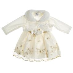 Sleevless Baptism Baby Girl Dress White Cece She Is Self 2