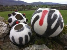 wet felted vessels by Nicola Brown on Flickr - my colours but I like the shapes