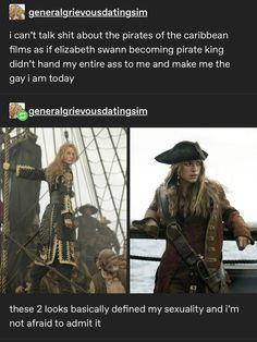Elizabeth Swann, Pirates Of The Caribbean, Johnny Depp, Writing Inspiration, Writing A Book, Lgbt, Lesbian, Pop Culture, Fandoms