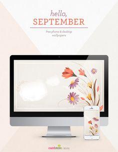 Celebrate September with this free desktop and phone wallpaper! #desktopwallpaper #desktopdownload #september #desktop
