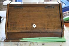 Vintage Bread Box (painted w/ Chalk Paint)