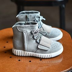 Yeezy's Kids new sneakers Suede type kids grey sneakers super comfortable yet stylish unisex can look cute on little boy or girl Shoes Sneakers