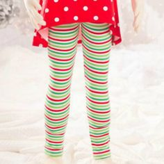 Mallory May Striped Holiday Leggings  from Freckles Children's Boutique for $24.00
