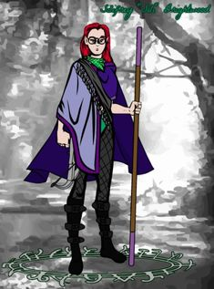 Meet Sili, my very first D&D character. She's so cool.
