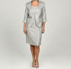 Shop for Jessica Howard Women's Plus Shawl Collar Jacket Dress. Get free delivery On EVERYTHING* Overstock - Your Online Women's Clothing Destination! Get in rewards with Club O! Plus Size Dress Stores, Plus Size Dresses, Plus Size Outfits, Dresses For Work, Mothers Dresses, Clothing Deals, Jacket Dress, Amazing Women, Beautiful Dresses