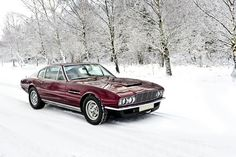 Aston Martin DBSV8 in the snow