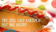 Alkaline vegan Chickpea hot dog with Dr Sebi approved ingredients