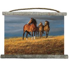 Horse Wall Hanging On Alert Canvas Decor Art