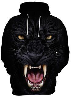 New fashion hoodie men's / women's sweatshirt print fierce black lion hooded hoodie thin hooded pullover Source by bannicorners ideas for men Hoodie Sweatshirts, Sweatshirt Homme, Pullover Hoodie, Printed Sweatshirts, Hoodie Jacket, Sweatshirts Online, Sport Winter, Fall Winter, Foto Top