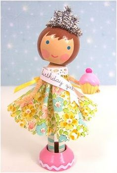 cute gift idea.. birthday princess Peg doll
