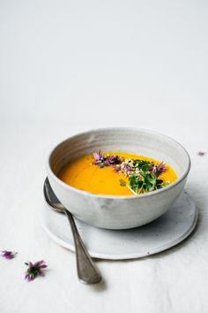 Carrot Ginger Soup | TENDING the TABLE