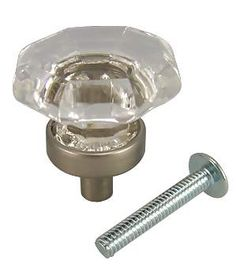1 inch old town crystal cabinet knob antique nickel base measures 1 inches and comes complete with the mounting hardware available in finishes of