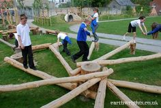 Playground Build & Design | Natural, Wood | EarthWrights: