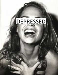 Depressed;  What a smile can hide.