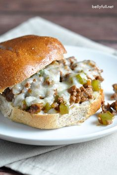 Sloppy Joes with a Philly Cheese Steak flair. Quick, easy, and delicious! This would be good with chicken