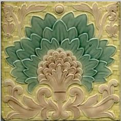 Minton Majolica Floral Tile. Glazed and Confused Majolica blogspot.co.uk