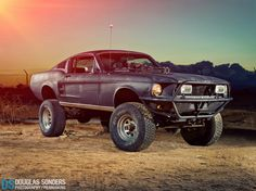 Off road Mustang with a Gatling gun! This will be my Zombie Apocalypse car!