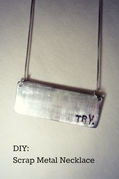 DIY scrap metal necklace tutorial