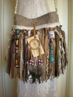 Native American Themed Gypsy Fringe Purse   Navajo by Pursuation, $65.00