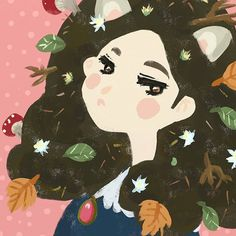 【caris.creates】さんのInstagramをピンしています。 《Made a new profile for my #Twitter account (cariscreates) and I just want to share it with you! Here's an autumn make-believe maiden wulf with extra ears, lots of foliage, and mushroom! 🍄  Welcome, fall.  #illustration #art #drawing #instaart #digitalart #イラスト #イラストレーター #イラストレーション #cariscreates #illust #フォロー #doodle #artistsonig #artwork  #artistsoninstagram #森 #nature #magic #magical #autumn #mushroom #morigirl #woodlands #可愛い》
