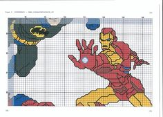 Súper Hero cross stitch 11-17