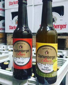Neue Mitglieder der Starkenberger Familie. 0,33L Lager und 0,33L Radler naturtrüb. #Starkenberger #Radler #Lager Radler, Stark, Seasons, Beer, Nature