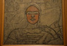 Above is an unfinished self-portrait done of Frida Kahlo while she was visiting Detroit, Michigan.