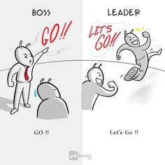 As we all know, a bad boss can make work unbearable. A good leader, on the other hand, can inspire a workforce to go the… Michael Scott, Boss Vs Leader, Office Cartoon, Pictures With Deep Meaning, Live Life Love, Satirical Illustrations, Bad Boss, Words Quotes, Qoutes