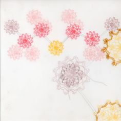 Lisa Solomon :: Cyclosarin 2011 - coloured pencil, acrylic, graphite, embroider on duralar.