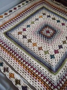 Ravelry: flao64's Granny patchwork. Pattern not given. Very pretty use of crochet granny square