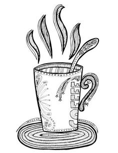 Coffee Coloring Pages | Coffee theme, Free printable and Coffee