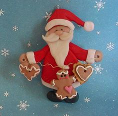 Polymer Clay Christmas Ideas | Polymer Clay Christmas Ornament Cake Topper by alongcameaspider1, $12 ...