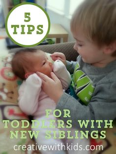 5 Tips for Toddlers with New Siblings. Unless of course my son is not s toddler anymore by the time we have the next baby lol Toddler Snacks, Toddler Fun, Toddler Activities, 2nd Baby, Second Baby, Parenting Toddlers, Parenting Hacks, Mindful Parenting, New Sibling